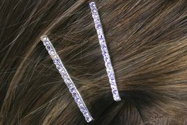 <Br>             LEAD & NICKEL FREE!!<Br>       W12662HJ - 3MM GENUINE<Br>   AUSTRIAN CRYSTAL BOBBY PIN<Br>2-PIECE SET FROM $1.69 TO $4.25