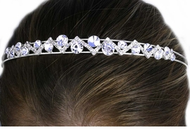 "<Br>           LEAD & NICKEL FREE!!<BR>W12671HJ - GENUINE AUSTRIAN<Br>CRYSTAL ""ZIG-ZAG"" HEADBAND<Br>          FROM $6.19 TO $13.75"