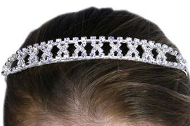 "<Br>            LEAD & NICKEL FREE!!<Br>W12696HJ - ""KISSES"" GENUINE<Br> AUSTRIAN CRYSTAL HEADBAND<Br>           FROM $6.75 TO $15.00"