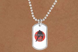 """<Br>          LEAD & NICKEL FREE!!<Br>W12971N - """"FOOTBALL 4 LIFE""""<Br>       DOG TAG & BALL CHAIN<Br>   NECKLACE AS LOW AS $3.45"""