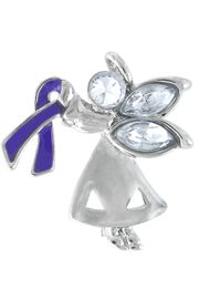 "<bR>                      LEAD & NICKEL FREE!!<br>W13220P - CHARMING ""ANGEL BY MY SIDE""<BR>          SILVER TONE PURPLE AWARENESS<BR>RIBBON ANGEL PIN&#169;2005 AS LOW AS $2.15<br>     EXCLUSIVELY OURS! WE ARE THE ONLY<Br>              MANUFACTURER OF THIS PIN!<BR>"