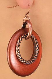 <Br>         LEAD & NICKEL FREE!!<Br>W13244EA - 3-STYLE COPPER<Br>  TONE ACCENTED RING DROP<Br>       EARRING ASSORTMENT<Br>             AS LOW AS $6.25