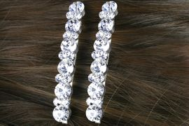 <Br>            LEAD & NICKEL FREE!!<Br>W13287HJ - GENUINE AUSTRIAN<br> CRYSTAL TWO-PIECE HAIR CLIP<Br>        SET FROM $3.35 TO $7.50