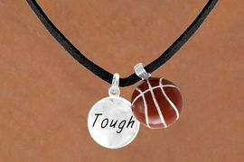 "<Br>       LEAD & NICKEL FREE!!<Br>W13552N - ""TOUGH"" DISC &<br>    BASKETBALL NECKLACE<br>            AS LOW AS $4.50"