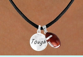 """<Br>       LEAD & NICKEL FREE!!<Br>W13554N - """"TOUGH"""" DISC &<br>       FOOTBALL NECKLACE<br>            AS LOW AS $4.50"""