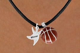 "<Br>      LEAD & NICKEL FREE!!<Br>W13572N - ""WINNER"" MAN<Br> & BASKETBALL NECKLACE<BR>           AS LOW AS $4.50"