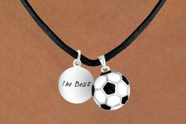 "<Br>       LEAD & NICKEL FREE!!<Br>W13583N - ""THE BEST"" DISC<br>  & SOCCER BALL NECKLACE<br>            AS LOW AS $4.50"