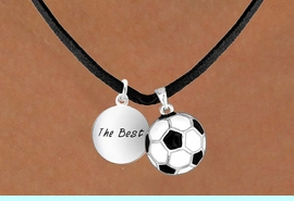 """<Br>       LEAD & NICKEL FREE!!<Br>W13583N - """"THE BEST"""" DISC<br>  & SOCCER BALL NECKLACE<br>            AS LOW AS $4.50"""