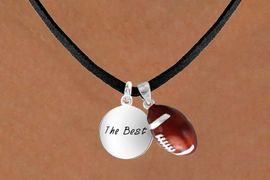 "<Br>       LEAD & NICKEL FREE!!<Br>W13586N - ""THE BEST"" DISC<br>      & FOOTBALL NECKLACE<br>             AS LOW AS $4.50"