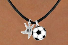 """<Br>      LEAD & NICKEL FREE!!<Br>W13601N - """"#1"""" STAR MAN<br>& SOCCER BALL NECKLACE<br>           AS LOW AS $4.50"""