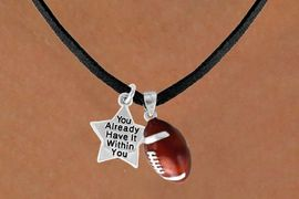 <Br>            LEAD & NICKEL FREE!!<Br>W13604N - ALREADY WITHIN YOU<br>    STAR & FOOTBALL NECKLACE<BR>                 AS LOW AS $4.50