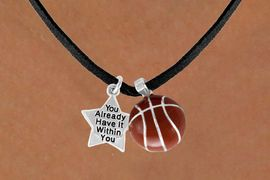 <Br>            LEAD & NICKEL FREE!!<Br>W13606N - ALREADY WITHIN YOU<br>  STAR & BASKETBALL NECKLACE<BR>                 AS LOW AS $4.50