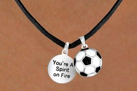 """<Br>      LEAD & NICKEL FREE!!<Br>W13619N - """"SPIRIT ON FIRE""""<br>  & SOCCER BALL NECKLACE<br>            AS LOW AS $4.50"""