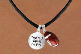 "<Br>       LEAD & NICKEL FREE!!<Br>W13622N - ""SPIRIT ON FIRE""<br>     & FOOTBALL NECKLACE<br>            AS LOW AS $4.50"