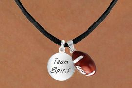 "<Br>     LEAD & NICKEL FREE!!<Br>W13639N - ""TEAM SPIRIT""<br>   & FOOTBALL NECKLACE<br>          AS LOW AS $4.50"