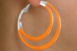 <Br>          LEAD & NICKEL FREE!!<bR>W14080EA - 6-COLOR PIERCED<br>    CONNECTED HOOP EARRING<Br>ASSORTMENT AS LOW AS $6.83