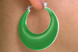 <Br>          LEAD & NICKEL FREE!!<br>   W14081EA - VIVID 6-COLOR<Br>      CRESCENT DROP EARRING<Br>ASSORTMENT AS LOW AS $4.20