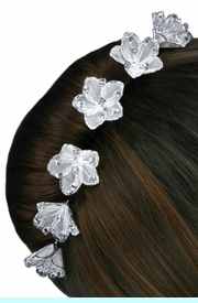 <Br>                LEAD & NICKEL FREE!!<BR>      W14259HJ - 6-PIECE GENUINE<br>AUSTRIAN CRYSTAL & MESH SCREEN<Br>   FLOWER STICK PIN  HAIR JEWELRY<BR>             FROM $13.50 TO $30.00