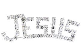 "<br>          LEAD & NICKEL FREE!!<Br>W14301P - ""JESUS"" MARQUEE<Br>  GENUINE AUSTRIAN CRYSTAL<Br>      PIN FROM $3.38 TO $7.50"
