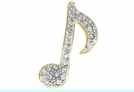 <Br>             LEAD & NICKEL FREE!!<BR>  W14322P - GENUINE AUSTRIAN<br>CRYSTAL ACCENTED MUSIC NOTE<Br>        PIN FROM $3.94 TO $8.75