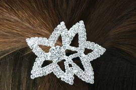 <Br>               LEAD & NICKEL FREE!!<Br>W14371HJ - DOUBLE-STAR GENUINE<Br>       AUSTRIAN CRYSTAL PONYTAIL<Br>     HOLDER FROM $9.00 TO $20.00