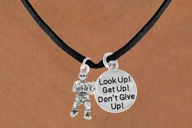"<Br>                   LEAD & NICKEL FREE!!<Br>W14448N - BOXER & ""DON'T GIVE UP!""<BR>SUEDE NECKLACE FROM $5.25 TO $8.65"