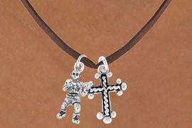 <Br>            LEAD & NICKEL FREE!!<Br>     W14450N - BOXER & CROSS<Br>NECKLACE FROM $5.25 TO $8.65