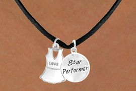 "<Br>                   LEAD & NICKEL FREE!!<Br>  W14454N - ""LOVE"" TENNIS DRESS &<BR>""STAR PERFORMER"" SUEDE NECKLACE<BR>                       AS LOW AS $4.15"
