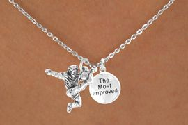 "<Br>           LEAD & NICKEL FREE!!<Br>    W14473N - SOCCER KICK &<BR>""THE MOST IMPROVED"" CHAIN<BR>    NECKLACE AS LOW AS $4.15"