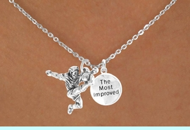 """<Br>           LEAD & NICKEL FREE!!<Br>    W14473N - SOCCER KICK &<BR>""""THE MOST IMPROVED"""" CHAIN<BR>    NECKLACE AS LOW AS $4.15"""