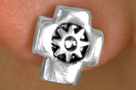<Br>                   LEAD & NICKEL FREE!!<Br>      W14488E - SILVER TONE CROSS &<Br>                  STARBURST EARRINGS <br>                   FROM $2.25 TO $5.00