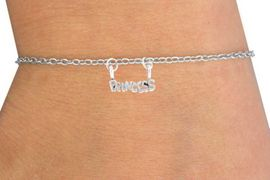 "<Br>                 LEAD & NICKEL FREE!!<BR>W14506B - ""PRINCESS"" CHILDREN'S<Br>   CHAIN BRACELET AS LOW AS $3.25"