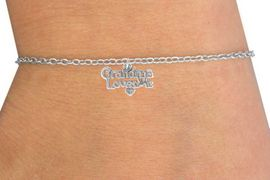 "<Br>              LEAD & NICKEL FREE!!<BR>W14513B - ""GRANDMA LOVES ME""<Br>     CHILDREN'S CHAIN BRACELET<BR>                   AS LOW AS $3.25"