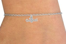 "<Br>         LEAD & NICKEL FREE!!<BR>   W14515B - ""#1 GODCHILD""<Br>CHILDREN'S CHAIN BRACELET<BR>              AS LOW AS $3.25"