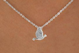 "<Br>             LEAD & NICKEL FREE!!<BR>     W14523N - LARGE DOVE ON A<Br>CHILDREN'S 12"" CHAIN NECKLACE<BR>             FROM $3.55 TO $7.50"
