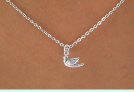 """<Br>             LEAD & NICKEL FREE!!<BR>    W14524N - SMALL DOVE ON A<Br>CHILDREN'S 12"""" CHAIN NECKLACE<BR>             FROM $3.55 TO $7.50"""