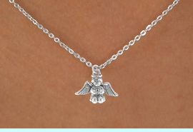 """<Br>             LEAD & NICKEL FREE!!<BR>  W14533N - SMALL BABY ANGEL<Br>CHILDREN'S 12"""" CHAIN NECKLACE<BR>              FROM $3.55 TO $7.50"""