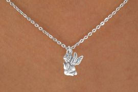 "<Br>             LEAD & NICKEL FREE!!<BR>      W14534N - PRAYING ANGEL<Br>CHILDREN'S 12"" CHAIN NECKLACE<BR>               FROM $3.55 TO $7.50"