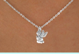 """<Br>             LEAD & NICKEL FREE!!<BR>      W14534N - PRAYING ANGEL<Br>CHILDREN'S 12"""" CHAIN NECKLACE<BR>               FROM $3.55 TO $7.50"""
