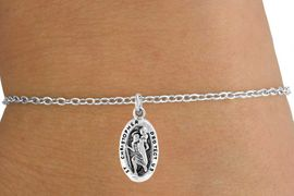"<Br>           LEAD & NICKEL FREE!!<BR>W14542B - ""ST. CHRISTOPHER""<Br>  CHILDREN'S CHAIN BRACELET<BR>             FROM $3.25 TO $7.50"