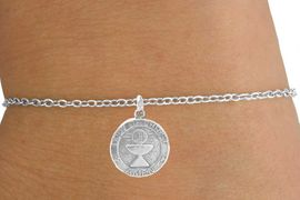 "<Br>          LEAD & NICKEL FREE!!<BR>W14543B - ""BODY OF CHRIST""<Br> CHILDREN'S CHAIN BRACELET<BR>          FROM $3.25 TO $7.50"