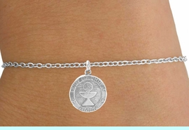 """<Br>          LEAD & NICKEL FREE!!<BR>W14543B - """"BODY OF CHRIST""""<Br> CHILDREN'S CHAIN BRACELET<BR>          FROM $3.25 TO $7.50"""
