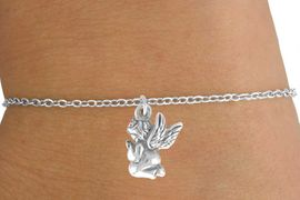 <Br>         LEAD & NICKEL FREE!!<BR>  W14548B - PRAYING ANGEL<Br>CHILDREN'S CHAIN BRACELET<BR>         FROM $3.25 TO $7.50