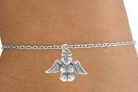 <Br>            LEAD & NICKEL FREE!!<BR>W14550B - SMALL BABY ANGEL<Br>  CHILDREN'S CHAIN BRACELET<BR>          FROM $3.25 TO $7.50