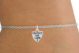 "<Br>           LEAD & NICKEL FREE!!<BR>W14552B - ""PROTECT ME LORD""<Br>  CHILDREN'S CHAIN BRACELET<BR>         FROM $3.25 TO $7.50"