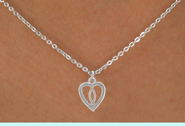 """<Br>             LEAD & NICKEL FREE!!<BR>W14561N - CHRISTIAN FISH HEART<Br>CHILDREN'S 12"""" CHAIN NECKLACE<BR>               FROM $3.55 TO $7.50"""