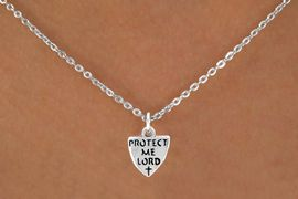 "<Br>             LEAD & NICKEL FREE!!<BR>  W14567N - ""PROTECT ME LORD""<Br>CHILDREN'S 12"" CHAIN NECKLACE<BR>              FROM $3.55 TO $7.50"