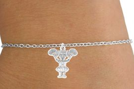 <Br>                  LEAD & NICKEL FREE!!<BR>W14580B - POM-POM CHEERLEADER<Br>   ON A CHILDREN'S CHAIN BRACELET<BR>                      AS LOW AS $3.25