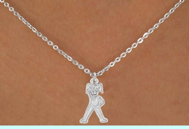 """<Br>             LEAD & NICKEL FREE!!<BR>    W14585N - GYMNASTICS GIRL<Br>CHILDREN'S 12"""" CHAIN NECKLACE<BR>                   AS LOW AS $3.55"""