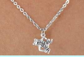 """<Br>              LEAD & NICKEL FREE!!<BR>   W14587N - """"I LOVE FROGS"""" ON<Br>CHILDREN'S 12"""" CHAIN NECKLACE<BR>                   AS LOW AS $3.55"""